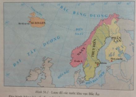 Giải bài tập Địa lí lớp 7 Bài 56: Khu vực Bắc Âu