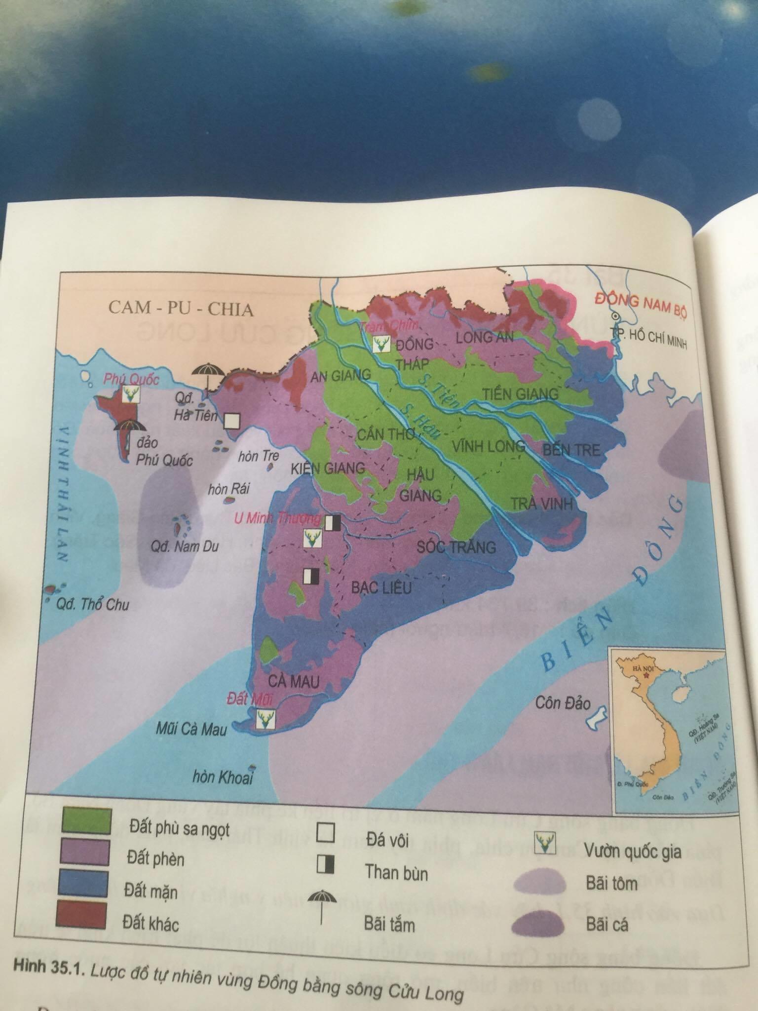 Giải bài tập Địa lí lớp 9 Bài 35: Vùng Đồng bằng sông Cửu Long