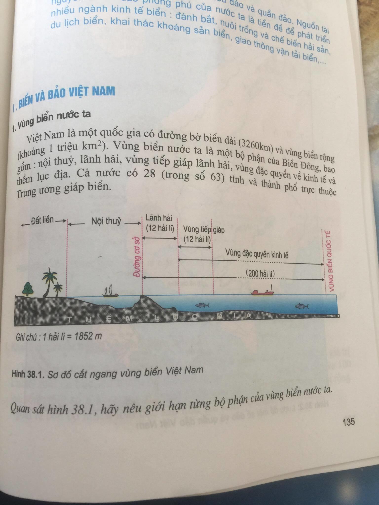 Giải bài tập Địa lý lớp 9 Bài 38: Phát triển tổng hợp kinh tế và bảo vệ tài nguyên, môi trường Biển - Đảo
