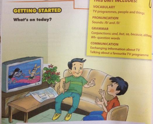 Giải bài tập Tiếng Anh lớp 6 mới Unit 7: Television