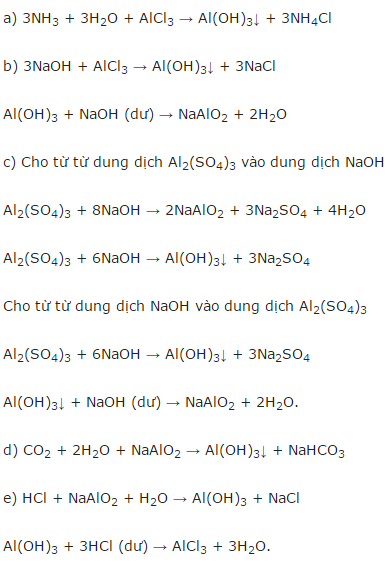 Giải Hóa lớp 12 bài 29: Luyện tập: Tính chất của nhôm và hợp chất của nhôm