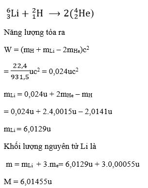 Giải Lý lớp 12 Bài 36: Năng lượng liên kết của hạt nhân. Phản ứng hạt nhân